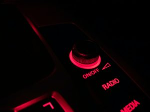 changing volume in car